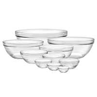 Stackable Glass Bowl Set