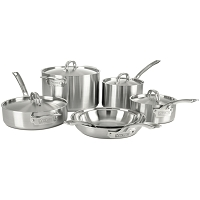 Stainless Steel 10 Piece Set, Satin Finish